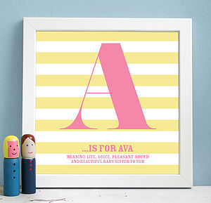 Personalised Framed Name Definition Print - gifts for babies