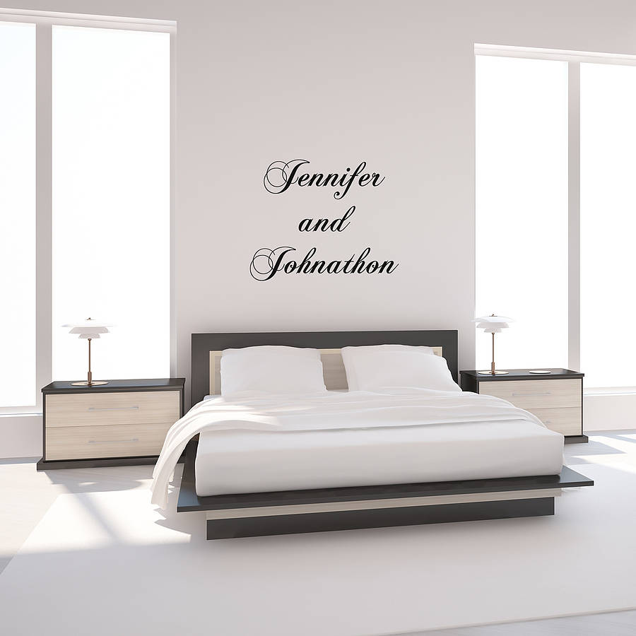 personalised quote typographical wall sticker by oakdene