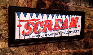 'Scream If You Want To Go Faster' Print - posters & prints