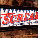 'Scream If You Want To Go Faster' Print