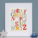 Personalised Typographic Alphabet Art Print