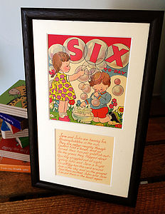 Original Vintage 'Number' Card Print - posters & prints for children