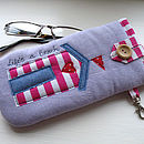 Beach Hut Glasses Case
