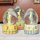 Mini Rabbit Snow Globe Dome