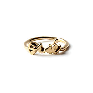 Gold Always Say Yes 'Oui' Ring - rings