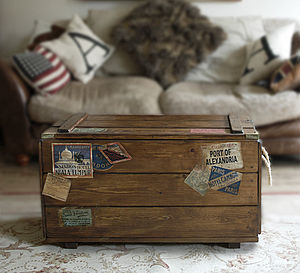 Retro Steamer Travel Trunk - bedroom
