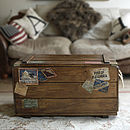 Retro Steamer Travel Trunk