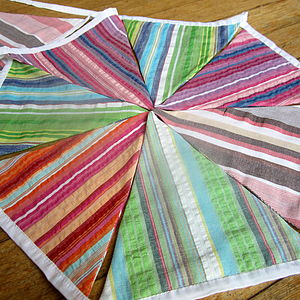 Deck Chair Stripe Bunting Extra Long - bunting & garlands