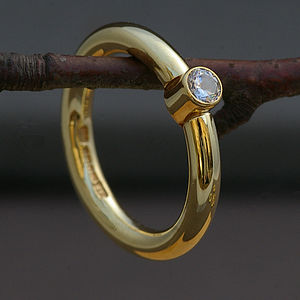 18 Carat Gold And Diamond Handmade Ring - rings