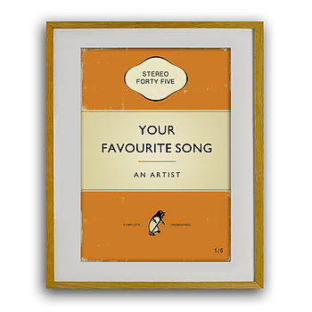 Personalised Classic Music Book Print