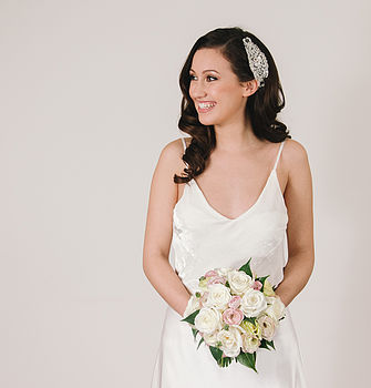 Crystal And Pearl Wedding Hairpiece