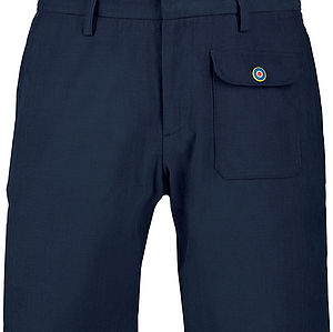 Navy Corduroy Shorts