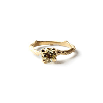 Lemon Quartz Ring In 18k Gold Plated Sterling Silver