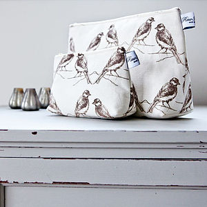 Birdie Cosmetic Or Wash Bag - bathroom