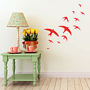 Flock Of Swifts Vinyl Wall Sticker