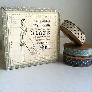 'Thank You Mum' Wooden Keepsake Box & Mug - sewing & knitting