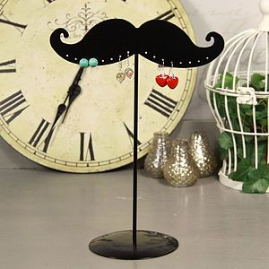Moustache Earring Stand - jewellery