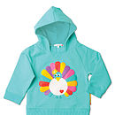 Poppy The Peacock Hooded Sweatshirt