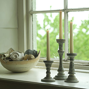 Mango Wood Candlesticks - kitchen