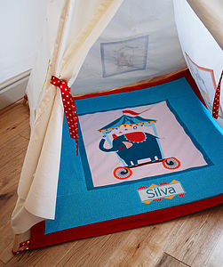 Child's Circus Play Mat Quilt - children's room accessories