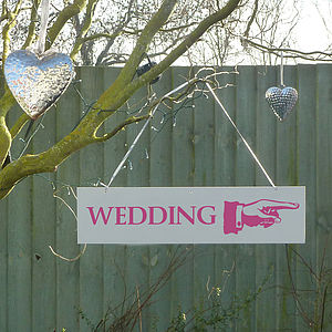 'Wedding' Directional Sign - outdoor decorations