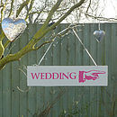 'Wedding' Directional Sign