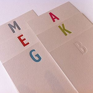 Letterpress Correspondence Cards - shop by category