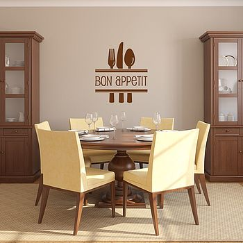 'Bon Appetit' Vinyl Wall Art - Brown