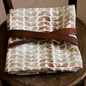 Leaves Linen By The Yard - throws, blankets & fabric