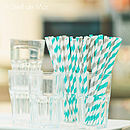 Striped Paper Party Straws