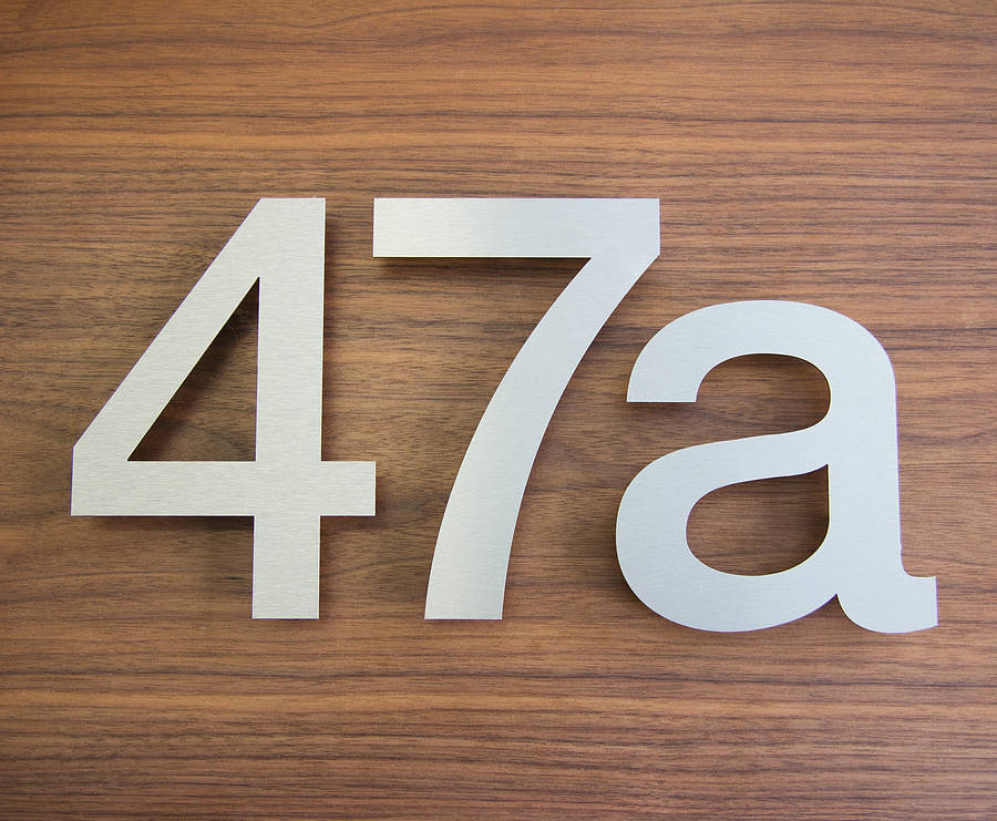 Large modern stainless steel house numbers by goodwin for Modern house numbers canada