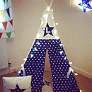 Personalised Star Initial Play Teepee