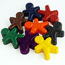 Set Of Eight Gingerbread Man Crayons