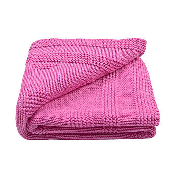 Baby Girl's Spot Cotton Knitted Blanket