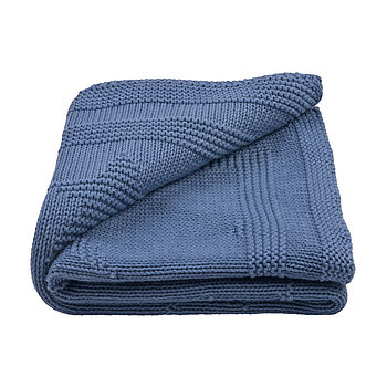 Baby Boy's Star Knitted Blanket