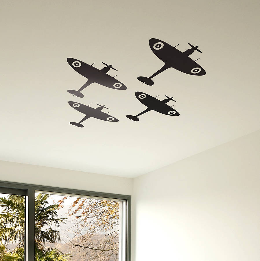 Spitfire Vinyl Wall Sticker Set