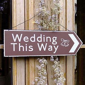 Wedding Direction Sign - signs