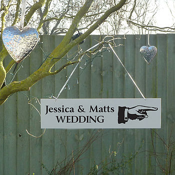 Personalised Wedding Party Directional Sign