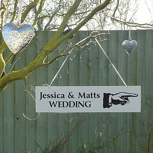 Personalised Wedding Party Directional Sign - signs