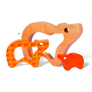 Baby Wood Bear Shape Toy - toys & games