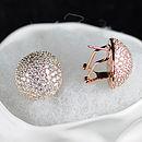 Rose Gold Diamante Statement Earrings