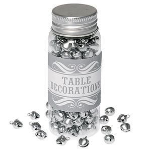 200 Mini Silver Bells Table Decorations