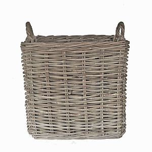 Square Rattan Basket - log baskets