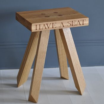 Children's Stool In Oak