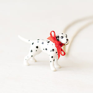 Dalmatian Dog Necklace - necklaces & pendants