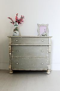 Distressed Vintage French Chest Of Drawers - furniture