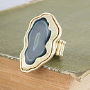 Gold Agate Ring