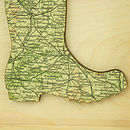 Personalised Map Welly Boot Artwork