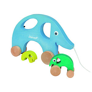 Elephant Pull Along Toy - toys & games