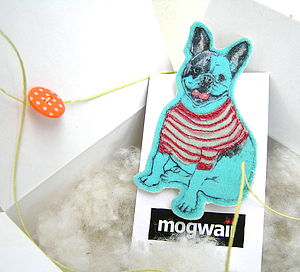 French Bulldog Brooch